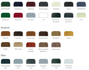Kleuren kozijnen blog